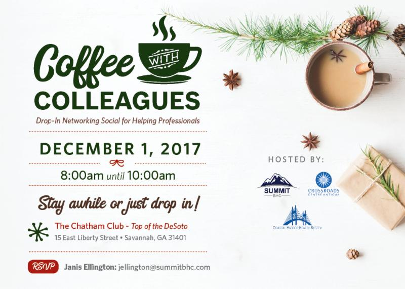 Coffee with Colleagues - December 1, 2017 - Summit BHC hosted events
