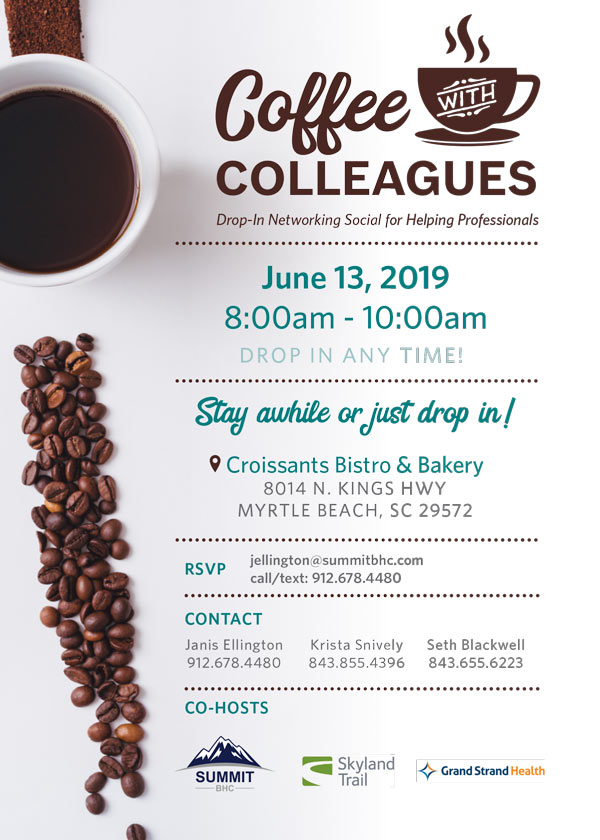 Coffee with Colleagues - Myrtle Beach, SC - June 13, 2019 - summit bhc