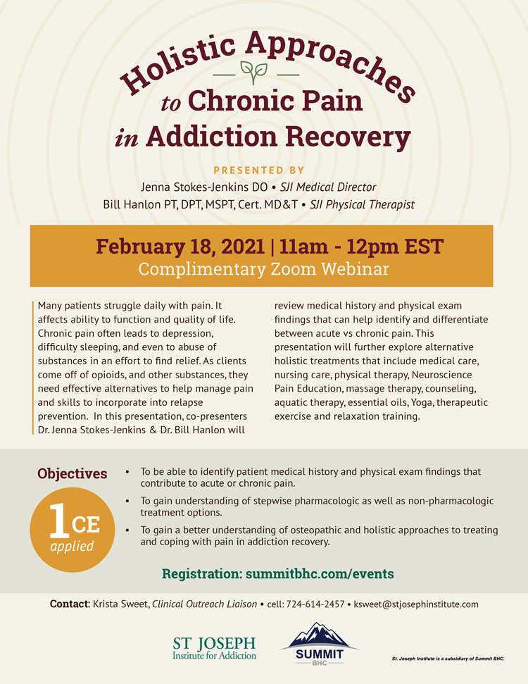 Holistic Approaches to Chronic Pain in Addiction Recovery