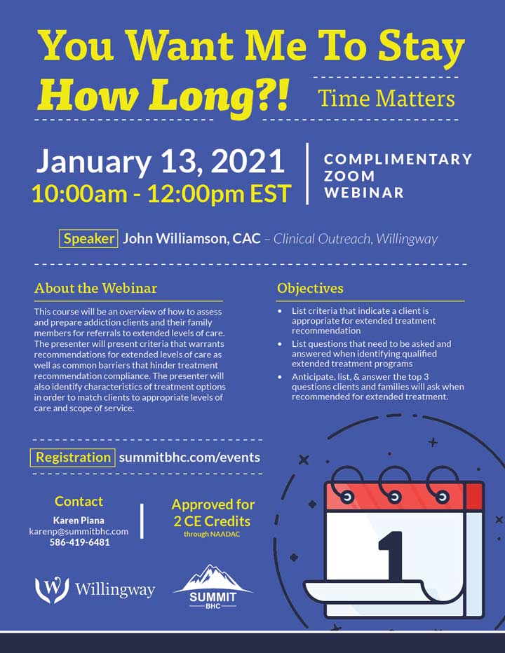 You Want Me to Stay How Long?! - Webinar - January 13, 2021