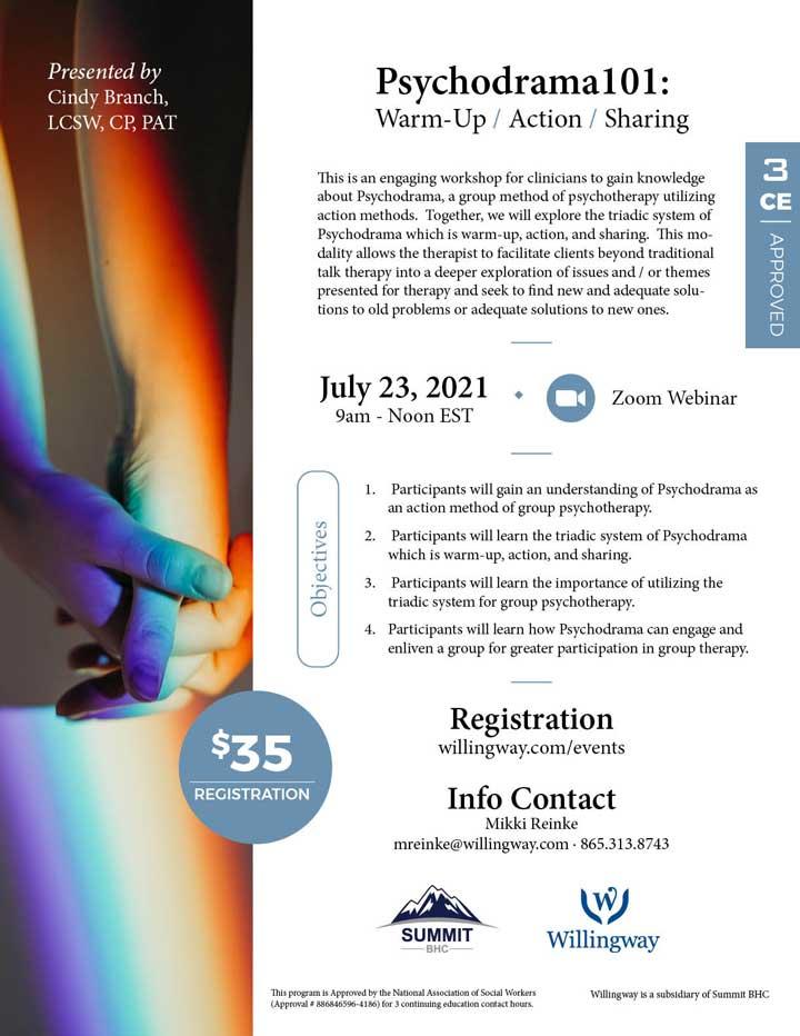 Psychodrama101: Warm-Up / Action / Sharing - Webinar - July 23, 2021
